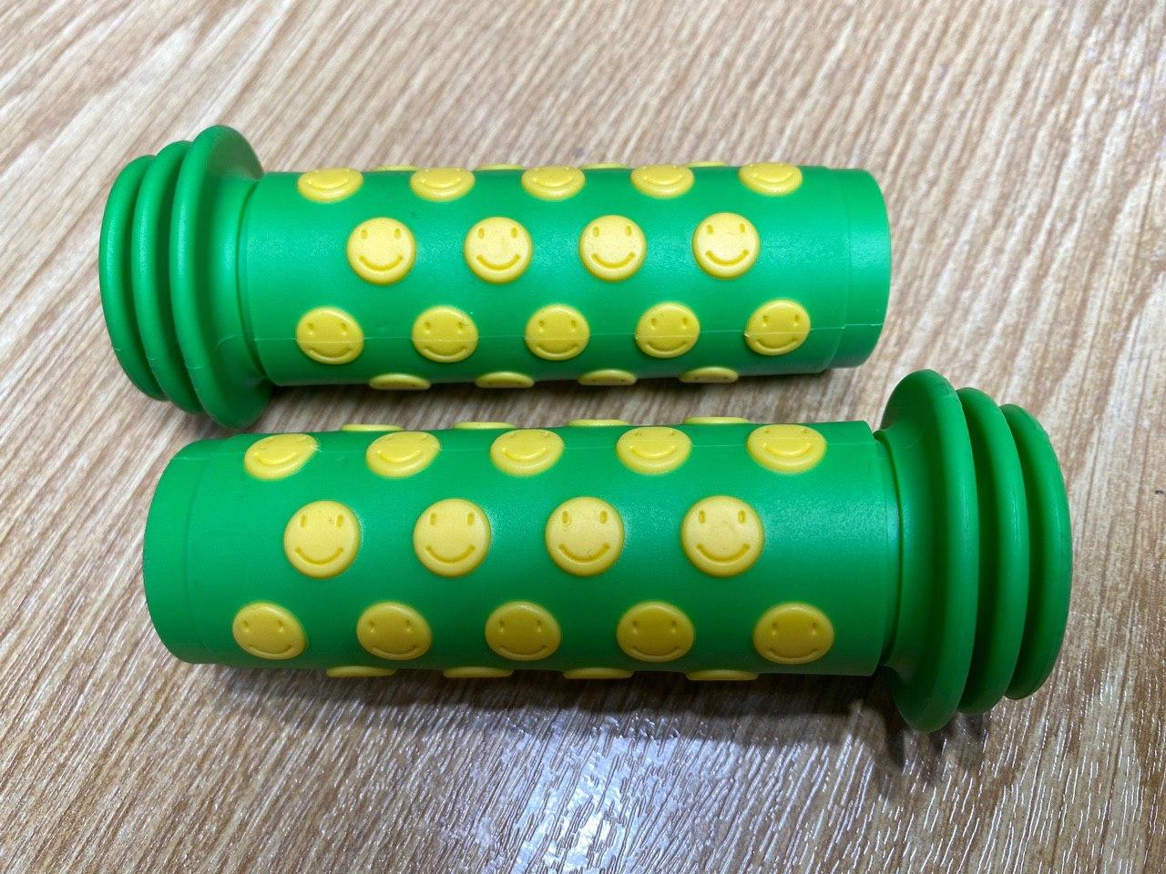 """Kindergriff """"SMILE"""" grün/gelb"""